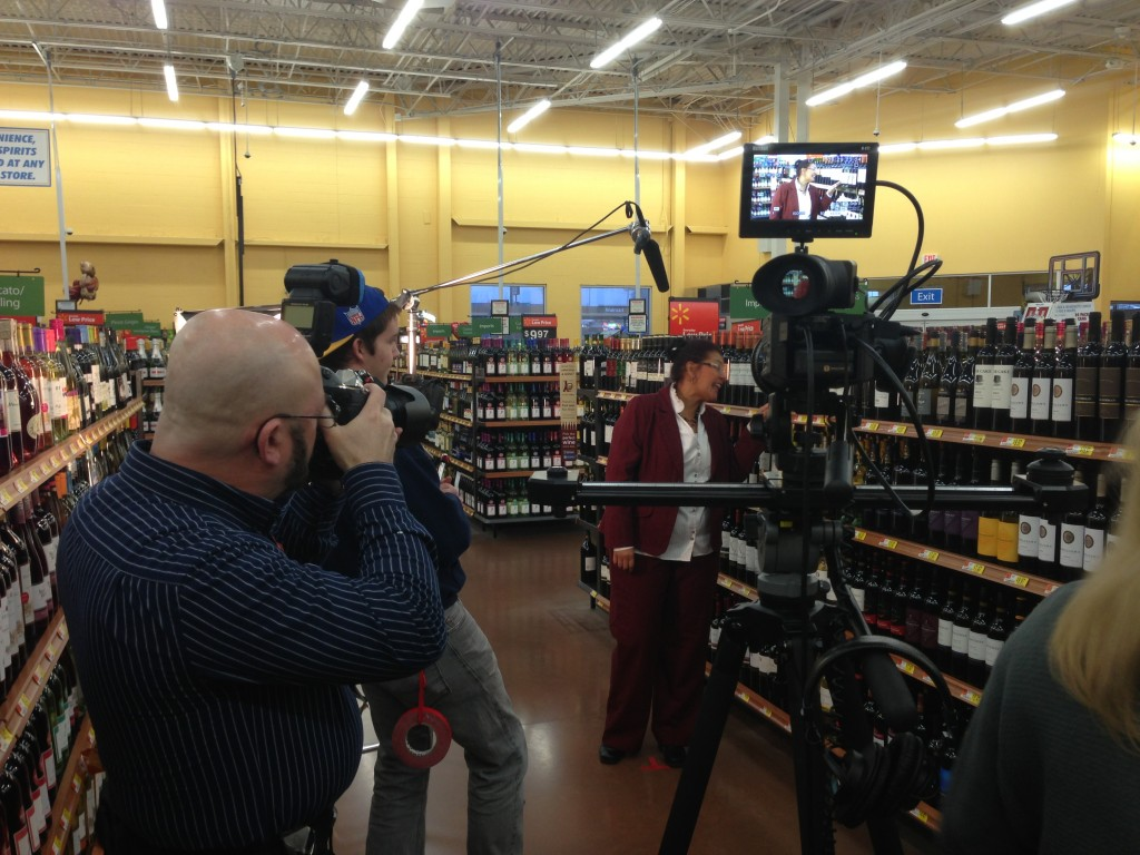 Filming a cool story about a wine company from South Africa now selling in Walmart